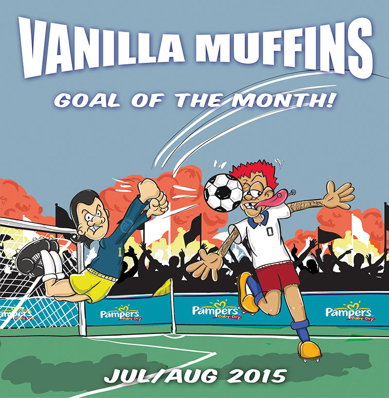 "Vanilla Muffins - Goal of the month Jul/Aug 2015 7"" (Green)"