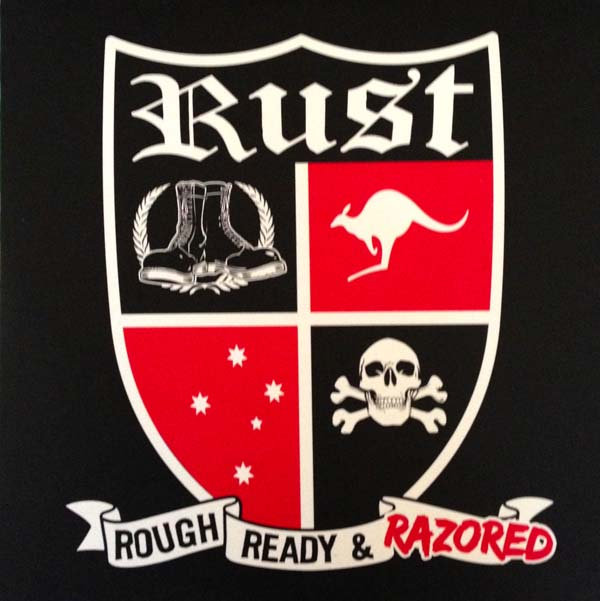 "RUST - Rough Ready & Razored 7""EP (červený/red)"