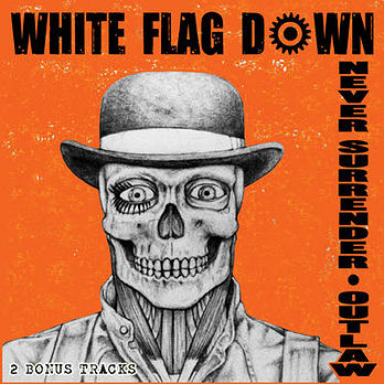 White Flag Down ‎– Never Surrender/Outlaw LP (bílý/white)