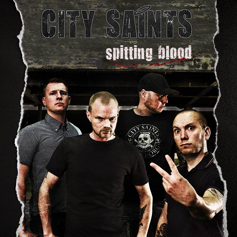 "City Saints - Spitting Blood 7""EP (červený/red)"
