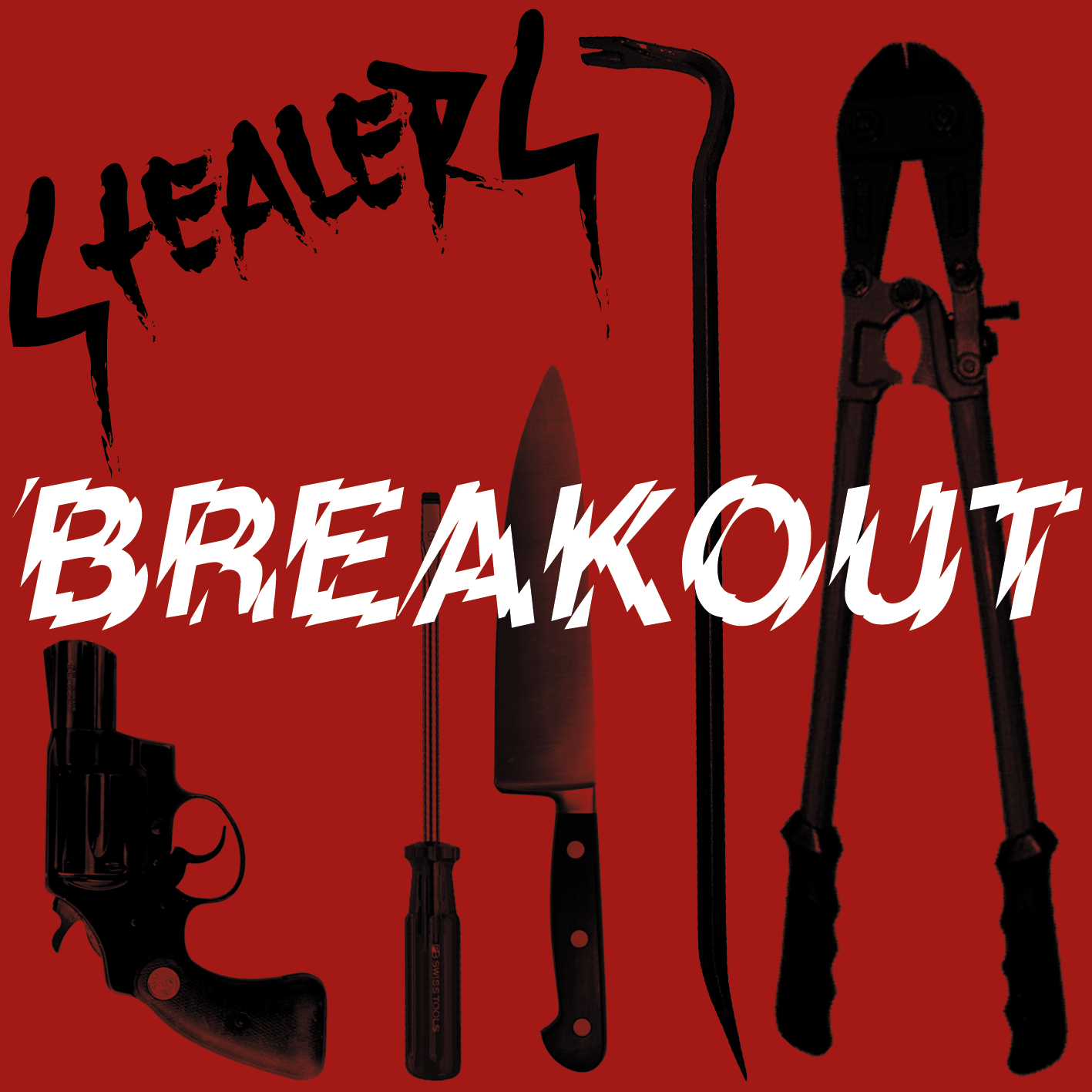 "Stealers - Breakout 7"" (red/white swirl)"