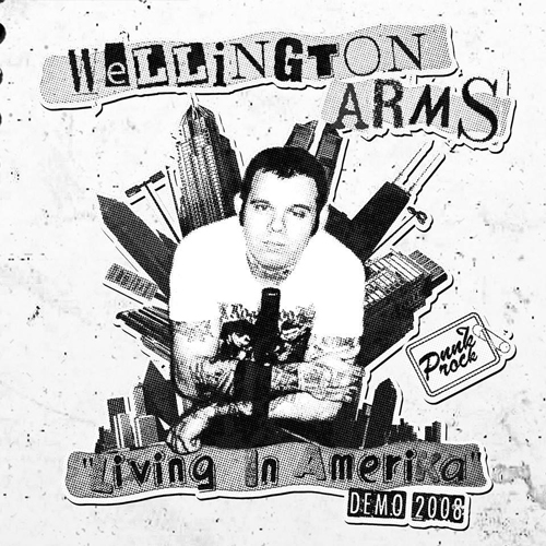 Wellington Arms ‎? Living In Amerika - Demo 2008 EP(?erný/