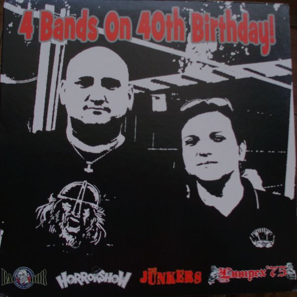 ‎V/A – 4 Bands On 40th Birthday! Split LP (černý/black)