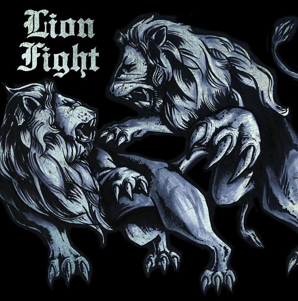 "Lion Fight - s/t 10"" (šedý/grey)"