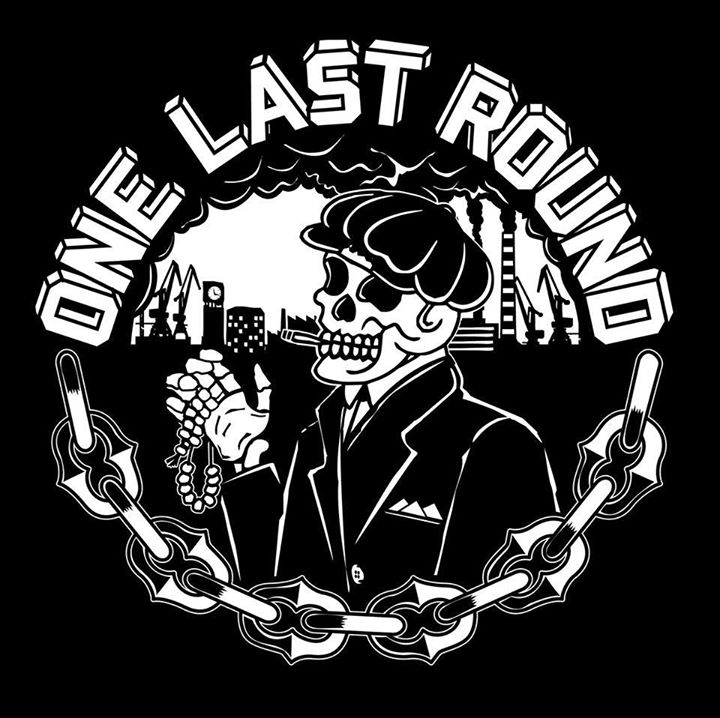 "One Last Round - s/t 7"" EP Artwork ""Skeleton"" (Black vinyl)"
