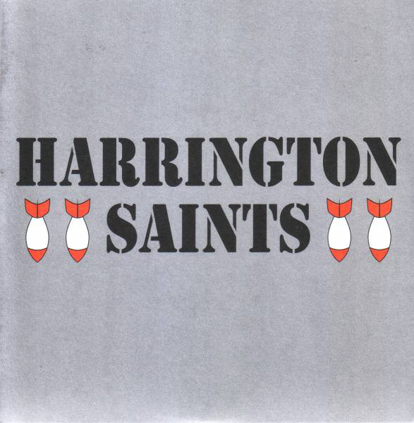 "Harrington Saints ‎– Bootstraps 7"" (Clear/red & silver spl"