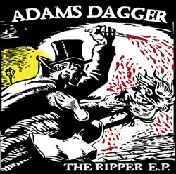 "Adam's Dagger ‎– The Ripper E.P. 7""EP (cler/red splatter)"