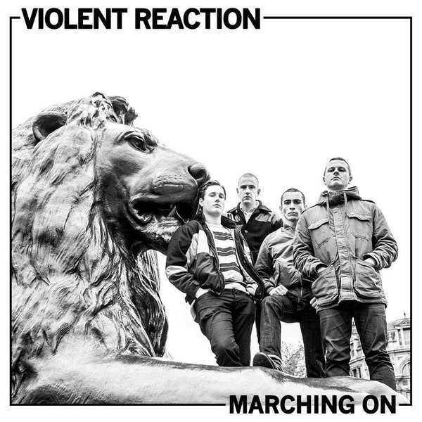 "Violent Reaction – Marching On 12"" LP (orange clear)"