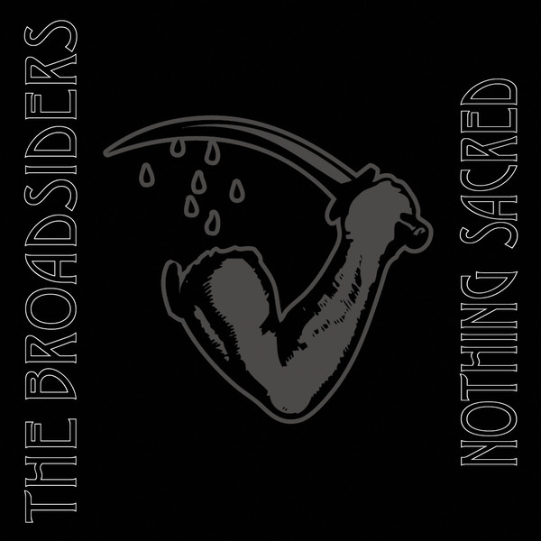 "The Broadsiders – Nothing Sacred 7""EP (White with Blue)"