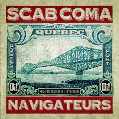 "Scab Coma – Navigateurs 7"" EP (splattered red / blue)"