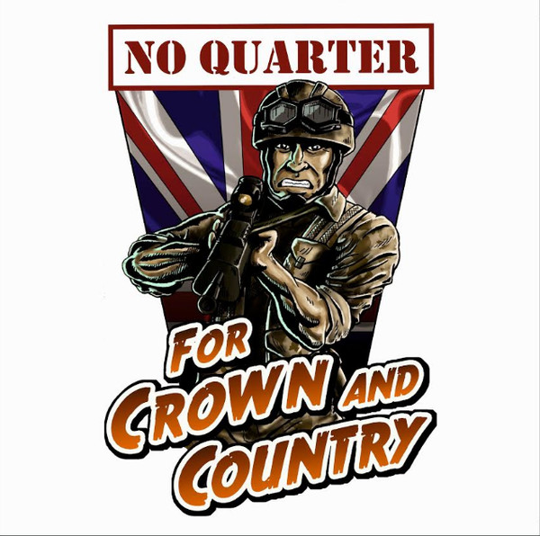 "No Quarter ‎– For Crown And Country 12""LP (červený)"