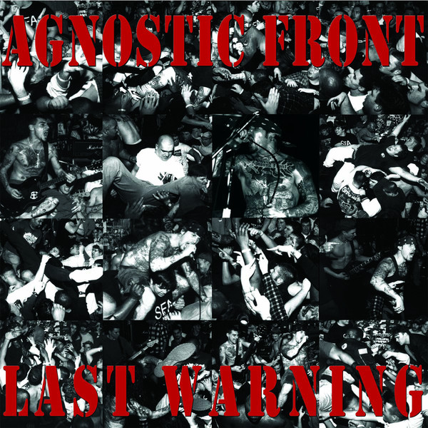 "Agnostic Front - Last Warning 12""LP red with white/black spl."
