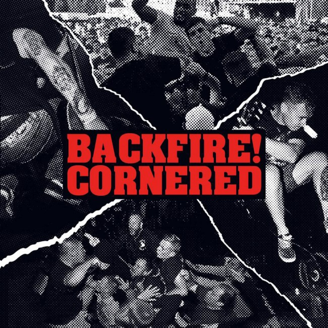 "Backfire! / Cornered - split 7"" (červený)"