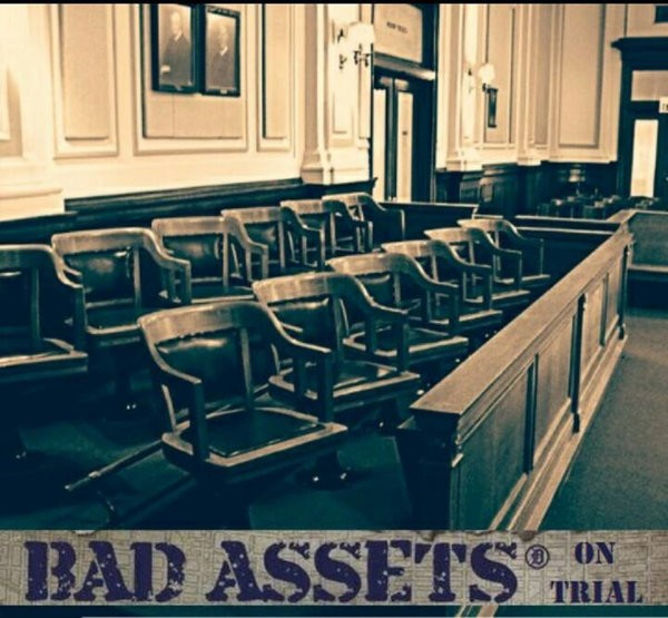 "Bad Assets - On Trial 12"" LP (Bronze/ Green HALF AND HALF)"