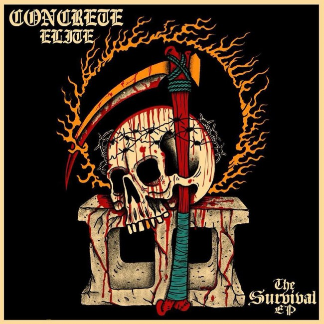 "Concrete Elite - The survival EP 12"" (bone)"